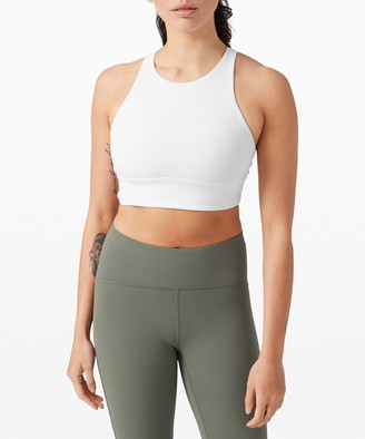 Lululemon Energy Bra High Neck Long Line Rib *Medium Support, B-D Cup