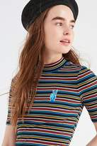 Urban Outfitters Zola Striped Mock-Neck Top