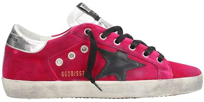 Golden Goose Superstar Fucsia Velvet Sneakers