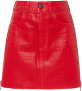 Jean Atelier Debbie Coated Denim Mini Skirt