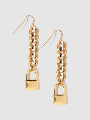 Tess + Tricia Lock Drop Earrings