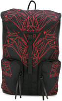 Marcelo Burlon County of Milan wolf print backpack - men - Polyester - One Size
