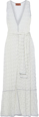 Missoni Mare Mare Belted Crochet-knit Maxi Dress