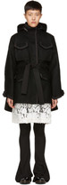 Sacai Black Wool Coat
