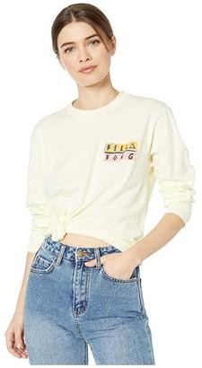 Billabong Take Me Back Long Sleeve Tee (Washed Lemon) Women's T Shirt