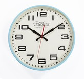 The Well Appointed House Telechron Metal Wall Clock with Blue Rim