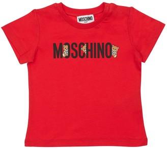Moschino Logo Print Cotton Jersey T-shirt