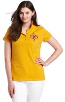 Southpole Junior's Plus Size Basic Heart Polo