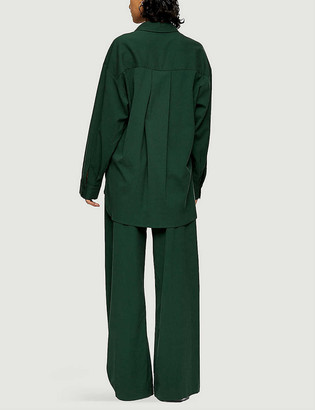 Topshop Wide-leg high-rise stretch-woven trousers