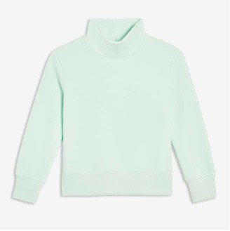 Joe Fresh Kid Girls' Turtleneck Pullover, Aqua (Size M)