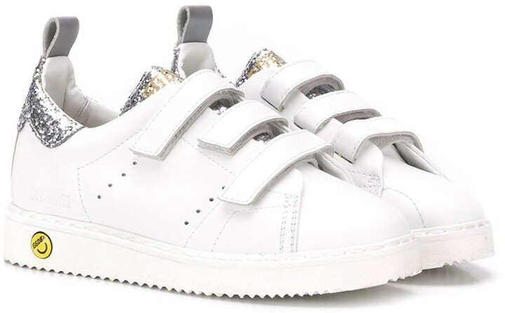 Golden Goose Kids touch strap trainers