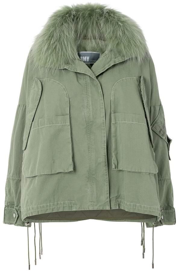 Yves Salomon Army military hooded jacket