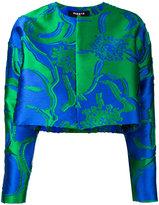 Paule Ka floral jacquard cropped jacket - women - Polyamide/Polyester - 38