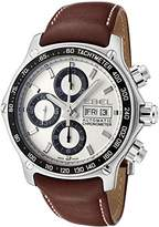 Ebel Men's 1911 Discovery Automatic Chronograph Brown Leather