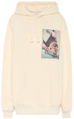 Acne Studios Printed cotton hoodie