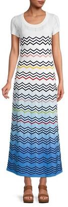 M Missoni Chevron-Embroidered Maxi Dress