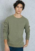 Topman Pique Panel Sweatshirt