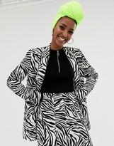 Asos Design DESIGN zebra suit blazer