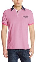 U.S. Polo Assn. Men's Solid Pique Polo Shirt with Contrast Collar