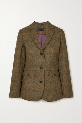 JAMES PURDEY & SONS Wool-tweed Blazer - Army green