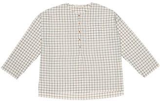Caramel Pimlico checked cotton shirt