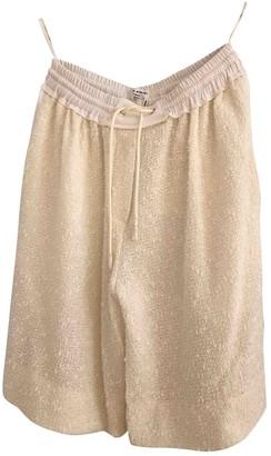 Sonia Rykiel \N Beige Cotton Shorts for Women