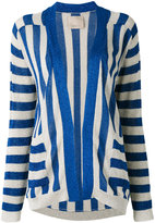 Laneus striped cardigan - women - Polyamide/Polyester/Viscose - 40