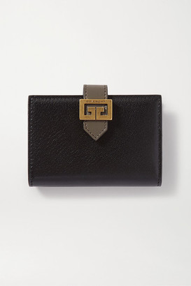 Givenchy Gv3 Smooth And Textured-leather Wallet - Black