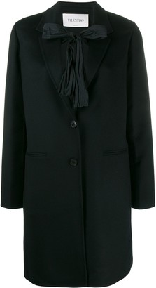 Valentino Bow Tie Embellished Coat
