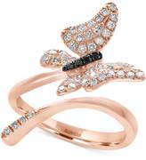 Effy Diamond Butterfly Ring (3/8 ct. t.w.) in 14k Rose Gold