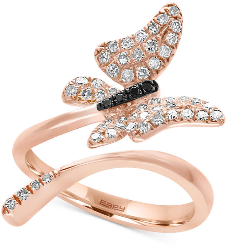 Effy Diamond Butterfly Ring (3/8 ct. t.w.) in 14k Rose Gold