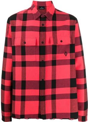 Marcelo Burlon County of Milan plaid distressed shirt