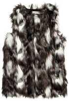H&M Faux Fur Vest - Dark gray/white - Ladies