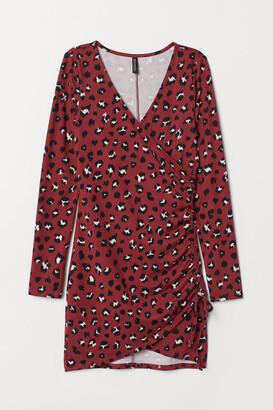 H&M Jersey Dress with Drawstring