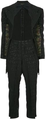 Comme des Garcons Pre-Owned geometric tonal pattern suit