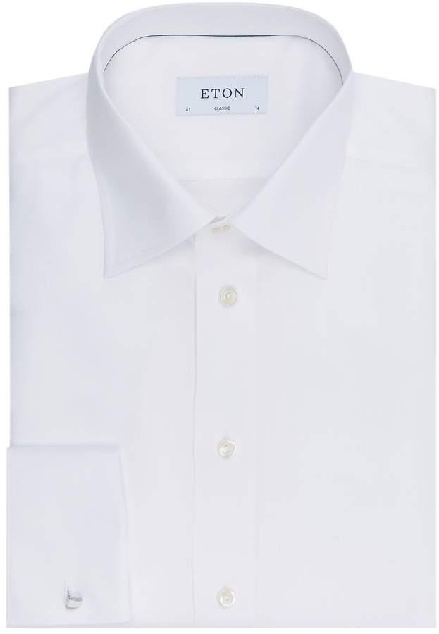 Eton Classic Fit Herringbone Twill Shirt