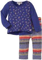 Appaman Leggings Set (Baby) - Spectrum Blue/ Nomad Print-3-6 Months