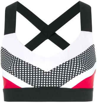 NO KA 'OI Colour Block Cropped Top