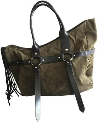 Helmut Lang Khaki Suede Handbags