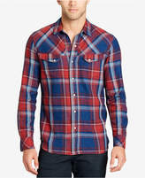 William Rast Men's Plaid Snap-Closure Flannel Shirt