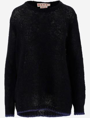 Marni Blue Wool Women's Long Sweater