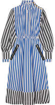 Sonia Rykiel Striped Cotton-poplin Midi Dress - Blue
