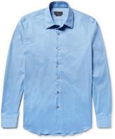 Prada Stretch Cotton-Blend Poplin Shirt