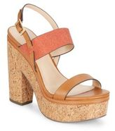 Charles by Charles David Jangle Leather Platform Cork Sandals
