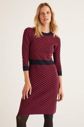 Boden Womens Red Phoebe Knitted Dress - Red