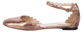 Chloé Leather Scallop Flats