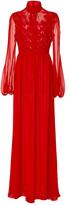 Giambattista Valli Long Sleeve Floral Gown