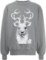 Juun.J deer print sweatshirt