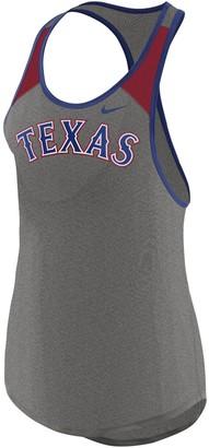Nike Women's Heather Gray Texas Rangers Wordmark Legend Tank Top