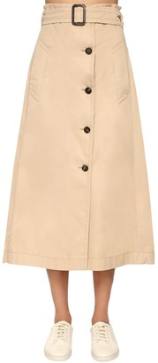 Cotton Gabardine A Line Skirt